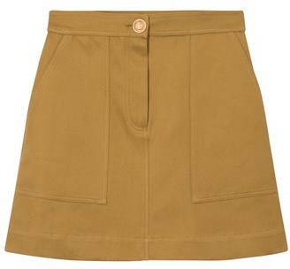 Vanessa Bruno Cotton and linen Marta mini-skirt