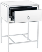 Athena Gdfstudio GDF Studio Mirrored Silver 1 Drawer Side Table