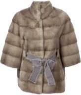 Liska - belted mink fur coat - women - Mink Fur - S