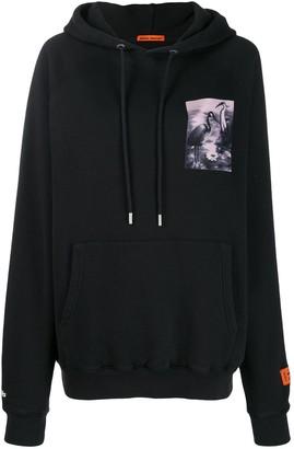 Heron Preston chest print hoodie