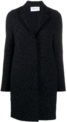 Harris Wharf London Leopard Print Single-Breasted Coat