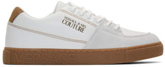 Versace White Leather Trainer Sneakers