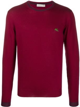 Etro Pegaso embroidery wool jumper