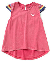 True Religion Big Girls 7-16 Crochet-Sleeve Hi-Low Top