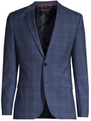 HUGO Astian Extra Slim-Fit Wool Plaid Jacket