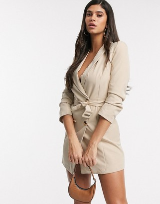 I SAW IT FIRST double breated belted blazer dress