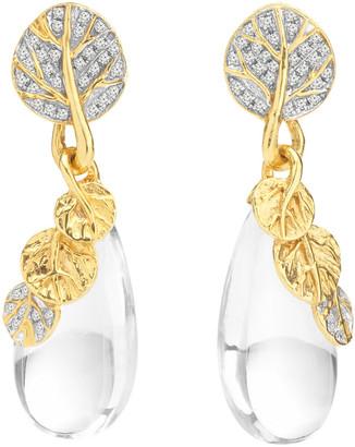 Michael Aram Botanical Leaf 18K Diamond 0.45 Ct. Tw. Earrings