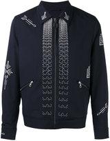 Lanvin arrow stitch zip jacket - men - Cotton/Polyamide/Polyester/Virgin Wool - 48