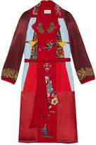 Gucci Embroidered patchwork reversible coat