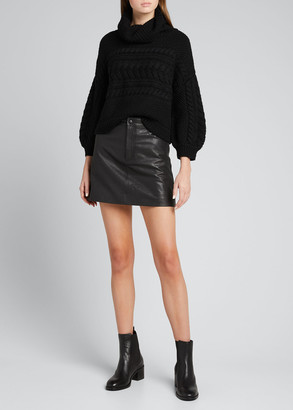 Alice + Olivia Francine Horizontal Cable Knit Sweater