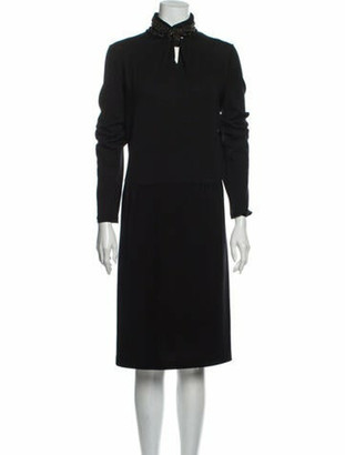 Armani Collezioni Wool Knee-Length Dress Wool