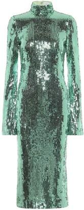 Galvan Orb sequinned midi dress