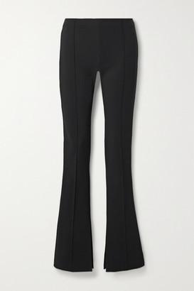 Adam Lippes Stretch-crepe Flared Pants - Black