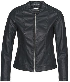 JDY JDYSTORMY women's Leather jacket in Black