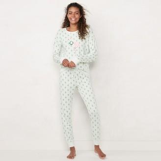 Lauren Conrad Women's Extra Soft Pajama Shirt & Pajama Pants Set