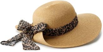 Sonoma Goods For Life Women's Scarf Back Floppy Brim Hat