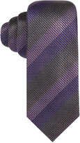 Alfani Men's Textured Surrey Striped Slim Tie, Only at Macy's
