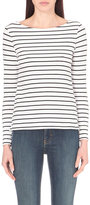 French Connection Tim Tim striped stretch-cotton top