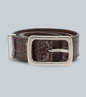 Dries Van Noten Crocodile embossed leather belt