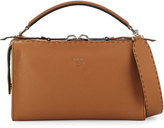 Fendi Lei Leather Satchel Bag, Brown