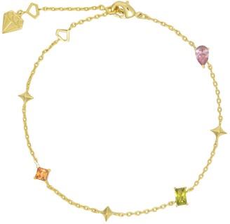 Wanderlust + Co Aurora Gold Gem Bracelet