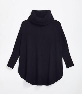 LOFT Maternity Shirttail Poncho Sweater