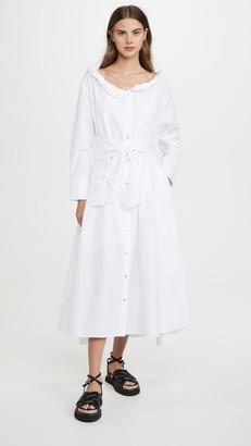 Kenzo Collar Roll Up Long Dress