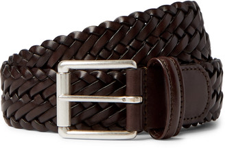 Andersons 3.5cm Brown Woven Leather Belt