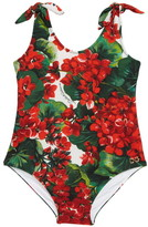 Dolce & Gabbana Floral Print One-Piece Swimsuit