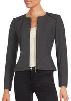 Calvin Klein Collection Solid Zip-Front Jacket