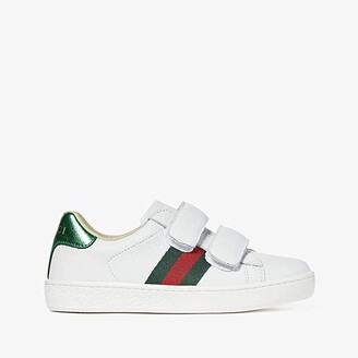 Gucci Kids New Ace V.L. Sneakers (Little Kid) (White) Kids Shoes