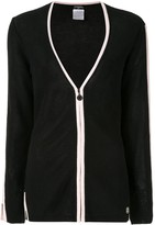 Chanel Pre Owned two-tone cardigan