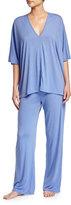 Josie Shangri La Tunic Pajama Set, Iris