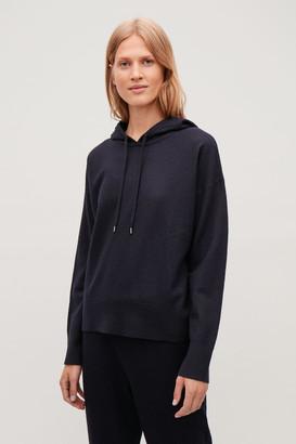 Cos Boiled-Wool Hooded Jumper