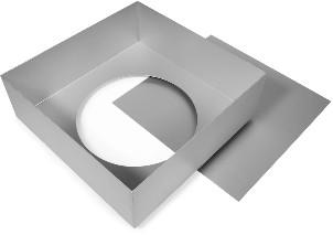 Cake Alan Silverwood Ltd - Square Tin Loose Base 9 Inch