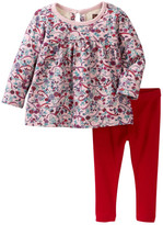 Tea Collection Ikebana Top & Leggings Set (Baby Girls)