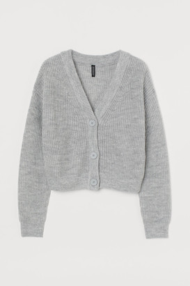 H&M Cropped Cardigan - Gray