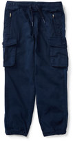 Ralph Lauren Chino & Terry Cargo Pants, Blue, Size 5-7