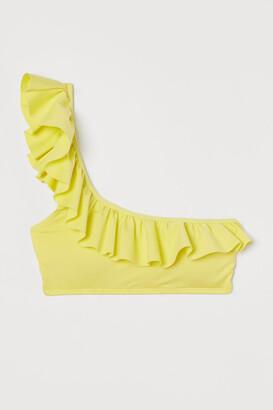 H&M One-shoulder Bikini Top - Yellow