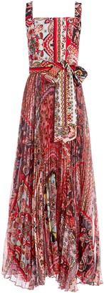Alice + Olivia Deonna Pleated Maxi Dress