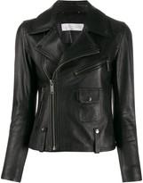 Victoria Victoria Beckham cropped leather biker jacket