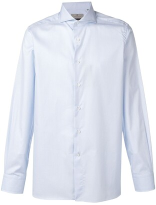 Canali Striped Pointed Collar Shirt