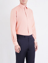 Eton Contemporary-fit houndstooth-patterned cotton shirt