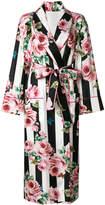 Dolce & Gabbana rose striped robe coat