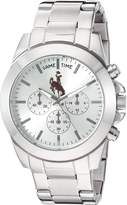 Game Time Women's COL-TBY-WYO Knock-Out Analog Display Japanese Quartz Silver Watch