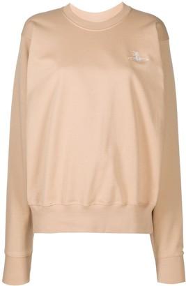 Vivienne Westwood Embroidered Logo Round Neck Sweatshirt