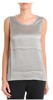 Fabiana Filippi Women's Grey Silk Tank Top.