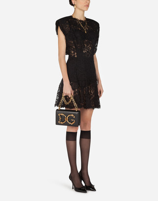 Dolce & Gabbana Short Cordonnet Lace Dress