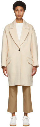 Isabel Marant Beige Cashmere and Wool Ego Coat