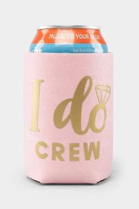 francesca's I Do Crew Koozie in Glitter Pink - Pink